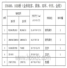 SY6480、1020桥(金杯轻客、黄海、双环、中兴、金程)